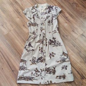 Maeve Anthro Deer/Bird woodland dress sz 2